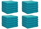 Betz 20 Stück Seiftücher NEAPEL 100% Baumwolle Größe 30x30 cm Farbe Petrol