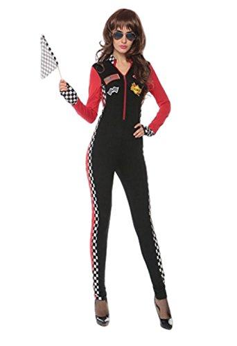 Top Totty Grid - Disfraz de piloto de Carreras para Mujer, Mujer, Color Multicolor, tamaño One Size 6-8