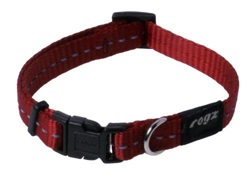 Rogz Utility Collar de Perro pequeño Reflectante de 3/8 Pulgadas Nitelife