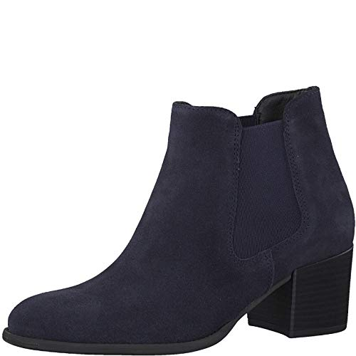 Tamaris Damen Stiefeletten, Frauen Chelsea Boots, Ladies Women's Woman Business geschäftsreise geschäftlich büro Stiefel hoch,Navy,39 EU / 5.5 UK