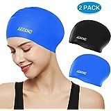 aegend Swim Caps for Long Hair (2 Pack),...