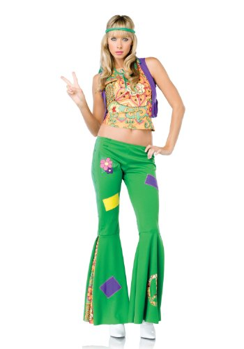 Leg Avenue - Costume hippy peace - M - Multicolore - 83583