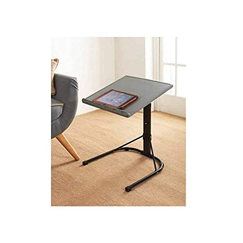 New Amazing Laptop Stand Regular Spaceways Height Adjustable Table Macbook Tablet Standing Desk for Office Home Work Study Table Metal Stand Easy Assemble - Grey & Black