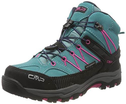 CMP – F.lli Campagnolo Unisex-Kinder Kids Rigel Mid Shoe Wp Trekking-& Wanderstiefel, Mehrfarbig (GIADA-BOUGANVILLE 30LE), 32 EU