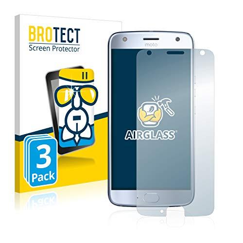 brotect Pellicola Protettiva Vetro Compatibile con Motorola Moto X4 (3 Pezzi) Schermo Protezione, Estrema Durezza 9H, Anti-Impronte, AirGlass