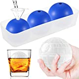JTW Star Wars Silicone Death Star Ice Cube Mold Tray, Death Star Wars Chocolate Molds, Makes 2.5 Inch Large Death Star Ice Balls Mold for Whiskey, Cocktails, Reusable and BPA Free (3Pack + 1Tray)
