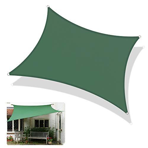 schaduwdoek LCYXM rechthoekige overkapping, 92% uv-blok, waterdicht, voor patio tuin outdoor-installatie beschikbaar - commerciële en privacy krachtige schaduw