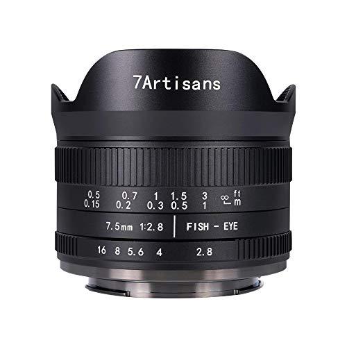 国内正規品 七工匠 7Artisans 7.5mm F2.8 FISH-EYE II ED (ニコンZ (APS-C), ブラック) 75ZB-II