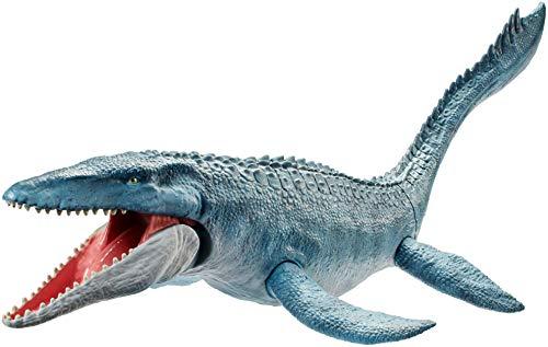 Mattel FNG24 - Jurassic World Dinosaurier Spielzeug Mosasaurus mit real feel Dinohaut