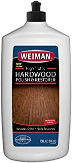 Weiman High-Traffic Hardwood Floor Polish and Restorer - Natural Shine, Removes Scratches, Leaves Protective Layer 32 fl. oz