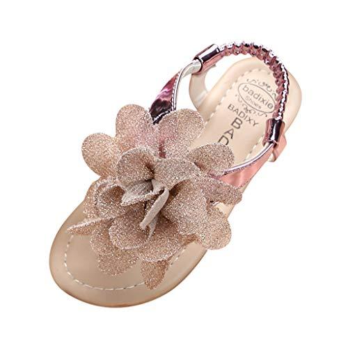 Ghemdilmn Mädchen Sommer Kleinkinder Mode Sandalen Blumen Gummiband Krabbelschuhe Hausschuhe Sandalen Weiche Sohle Prinzessin Schuhe Offener Zeh Sandalen