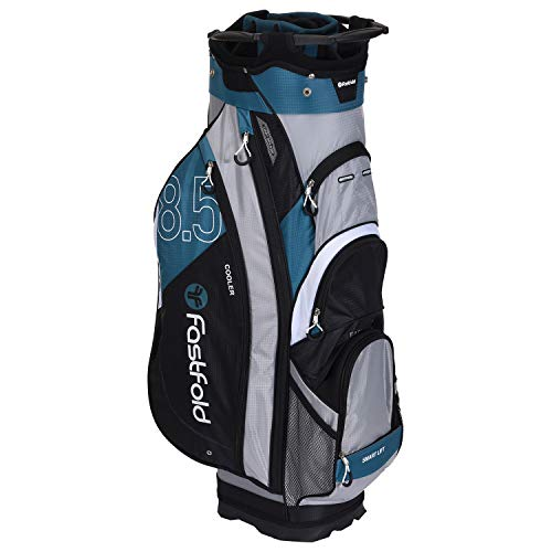 FASTFOLD Golf-Trolley Unisex Cart Bag – Grau/Petrol