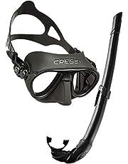 Cressi Calibro Maschera Sub Antifog o Combo Set con Snorkel Corsica