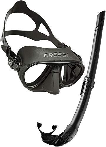 Cressi Sub S.p.A. Calibro Corsica Kit de randonnée Aquatique Mixte Adulte, Noir/Noir, Unique