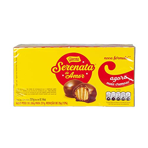 Schokoladenkonfekt mit knuspriger Waffel und Caschewnusscreme-Füllung, Box 231g - Serenata de Amor GAROTO
