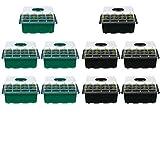 CCCMS Sämlingsablage, 10-Pack-Saatgut-Sprießen-Tabletts mit Deckel Indoor Grow Plant-Töpfe 12...