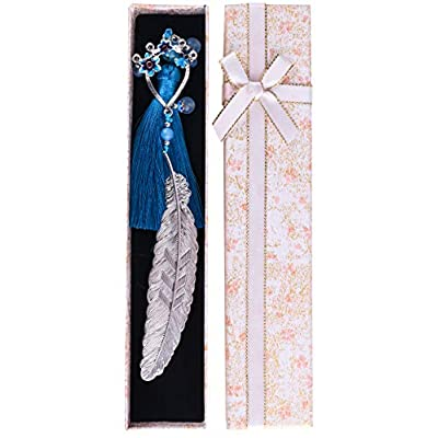 Amazon - Save 50%: Holly LifePro Handmade Silver Premium Brass Metal Leaf Bookmarks with Gift…
