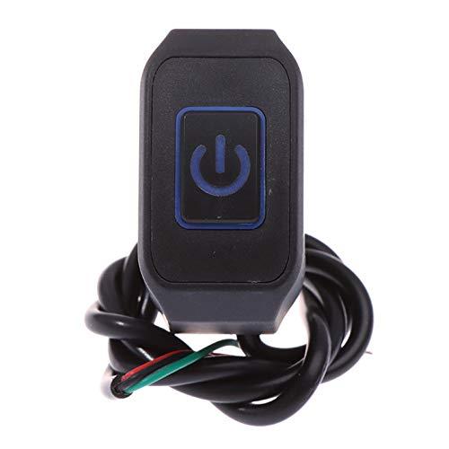 Botón momentáneo de 22 mm 7/8'para el interruptor de manillar de la motocicleta utilizado para el botón de interruptor de control a prueba de agua de inicio eléctrico con luz LED (Color : Blue)