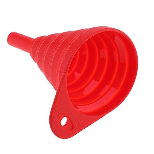 Sharplace Coque en Silicone Pliable Entonnoir Flexible de Moto Voiture - Rouge