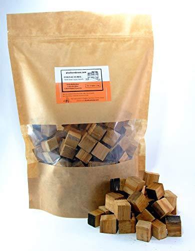 AlcoFermBrew COGNAC OAK CUBES 1kg de barriles vacíos - Sabor y Envejecimiento Whisky, Vino, Cerveza, Moonshine - Barbacoa casera