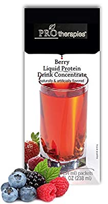 High Protein Liquid Concentrate Fruit Drink 15g - Mixed Berry Low Carb Liquid Protein Nutritional Supplement Mix (7 Servings/Pack)