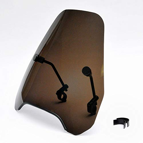 Krator 15' Smoke Tinted Windscreen Windshield Compatible with Harley Davidson, Honda, Kawasaki,...