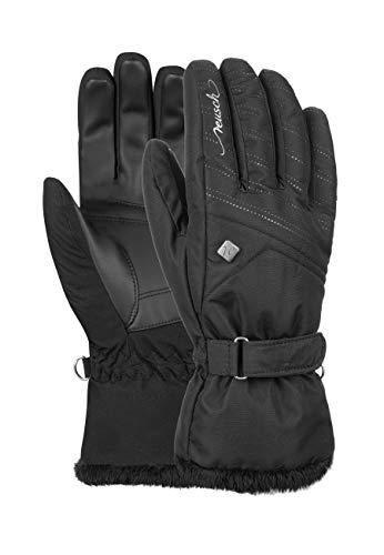Reusch Damen Fingerhandschuhe Laila mit modischem Kunstfell-Abschluss black, 8