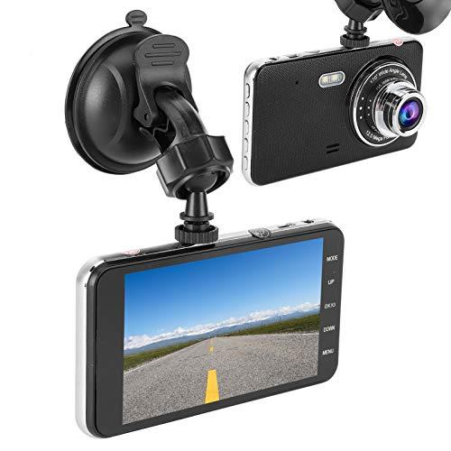 Gerioie Grabador de conducción, cámara DVR para Coche, Lente Dual HD Profesional para vehículo