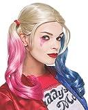 Prodotto ufficiale DC Comic Suicide Squad Harley Quinn parrucca completa il look con questo accessorio chiave iconico Harley Quinn Pig Tails con maiale e blu Dip ends US progettato Rubie' s prodotto Licenza ufficiale prodotto testato a normativa dell...
