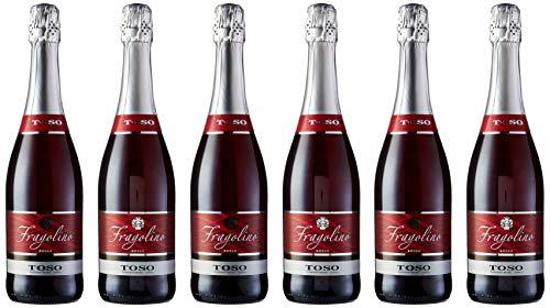 Toso Fragolino Rosso Bebida Premezclada - Paquete de 6 x 750 ml - Total: 4500 ml