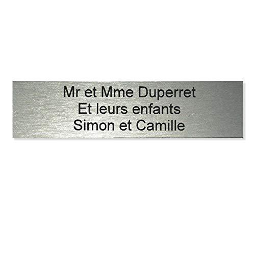 Placa per Cassetta delle Lettere Edelen, Dimensioni: 9,9 x 2,4 cm, 1, 2 o 3 linee