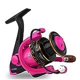 ZHXH 12 BB 5,0: 1 De Agua Dulce Spinning Carrete De La Pesca 1000-3000 Series Carp Carrete De Pesca para Bass Fishing Wheel,Rosado,3000 Series