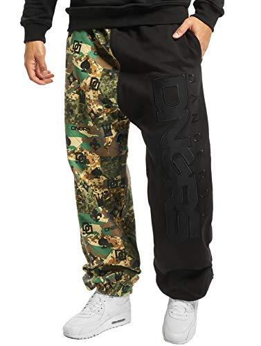 EGOMAXX DNGRS Herren Jogging Hose Baggy Sweat Pants Crown & King Sport, Größe Hosen:M, Farben:Camouflage-1