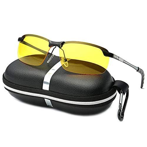 LoiStu occhiali da visione notturna polarizzati, anti-riflesso, protezione UV401, per ridurre l'affaticamento degli occhi, per la guida, lo sci
