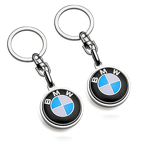 Compatible for BMW Keychains 3D Car Logo Key Chain Key Ring Accessories , Suit for BMW 1 3 5 6 Series X5 X6 Z4 X1 X3 X7 7Series Business Gift Birthday Present for Men and Woman(2 Pack)