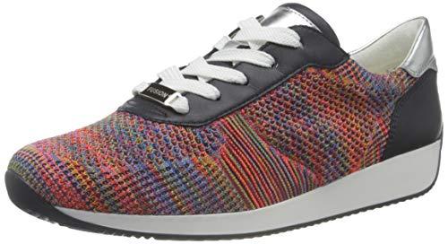 ARA Lissabon sneakers voor dames, Reggae Multi Blauw Zilver, 39 EU