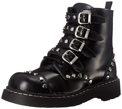 TUK Shoes Studded Leather Anarchic 7 Eye Buckle Boot UK 4