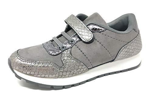 Zapatillas de Deporte para niñas con Gancho y Lazo, de Gamuza metálica, para Correr,...