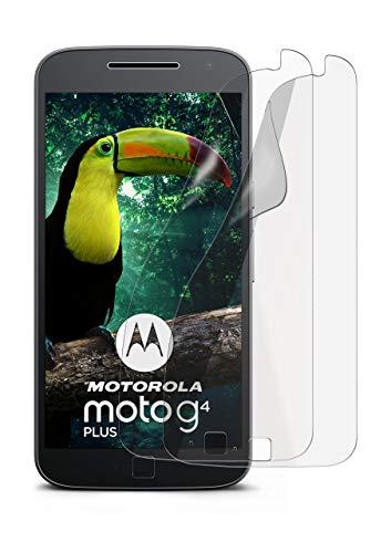 2X Lenovo Moto G4 | Schutzfolie Matt Bildschirm Schutz [Anti-Reflex] Screen Protector Fingerprint Handy-Folie Matte Bildschirmschutz-Folie für Motorola Moto G4/G4 Plus Bildschirmfolie