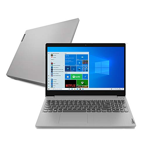 Notebook Lenovo Ultrafino IdeaPad 3i, Intel Core i5-10210U, 8GB RAM, 256GB SSD, Windows 10, 15.6', Prata