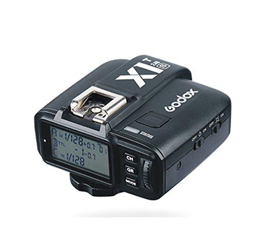 Godox X1T-S 2.4G Wireless TTL Flash Trigger Transmitter for Sony DSLR Cameras with MI Shoe(X1T-S Transmitter)