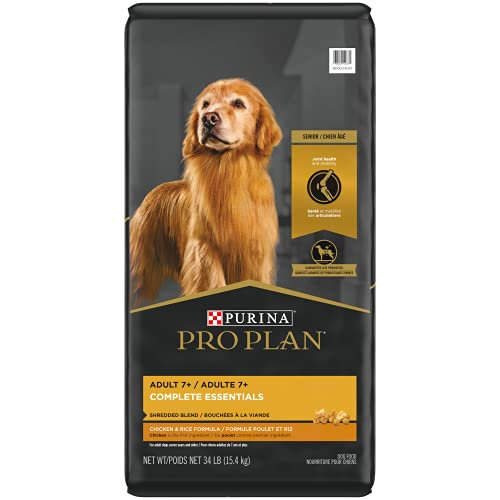 Purina Pro Plan Senior Dog Food With Probiotics for Dogs, Shredded Blend Chicken & Rice Formula - 34 lb. Bag