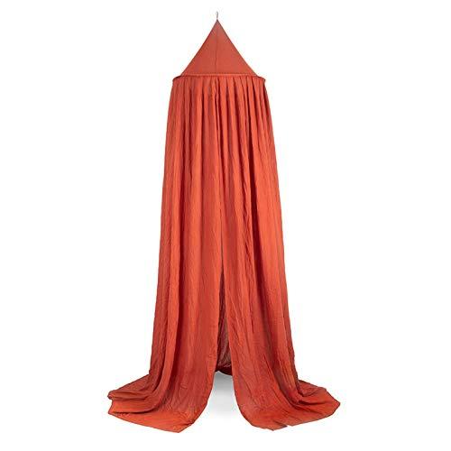 Jollein Moskitonetz Vintage 245 cm rust rot Betthimmel für Kinder- & Babybett | 002-005-65315
