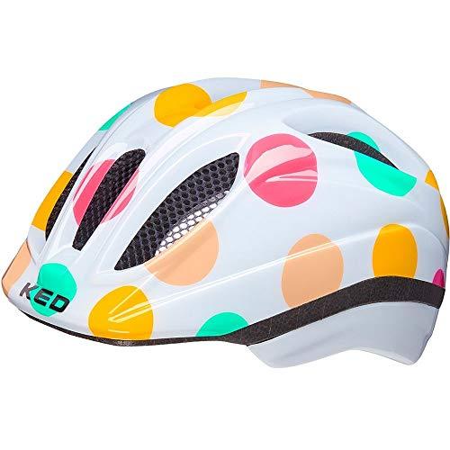KED Meggy II Trend XS dots Colorful - 44-49 cm - inkl. RennMaxe Sicherheitsband - Fahrradhelm Skaterhelm MTB BMX Kinder Jugendliche