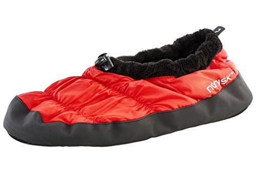 Tent Shoes slippers For Men Women - Nordisk Mos Down Shoes - SS19 - Small Red