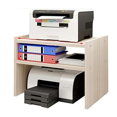 Vassoi per stampante Ripiano for Stampante Doppio Portadocumenti di Archiviazione Desktop Scaffale for Ufficio Desktop Multi-Strato Rack for Fotocopia