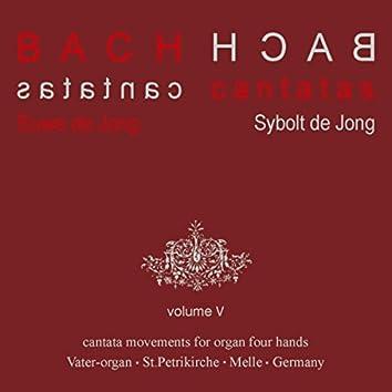 Bach Cantatas, Vol. 5: Cantata Movements for Organ Four hands