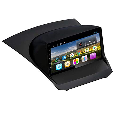 Android 9.0 Unidad principal de doble Din Estéreo para automóvil para Ford Fiesta 2009-2017 Navegación GPS Pantalla táctil Reproductor multimedia Receptor de radio Car(Size:2009-2012,Color:WIFI:1+16G)