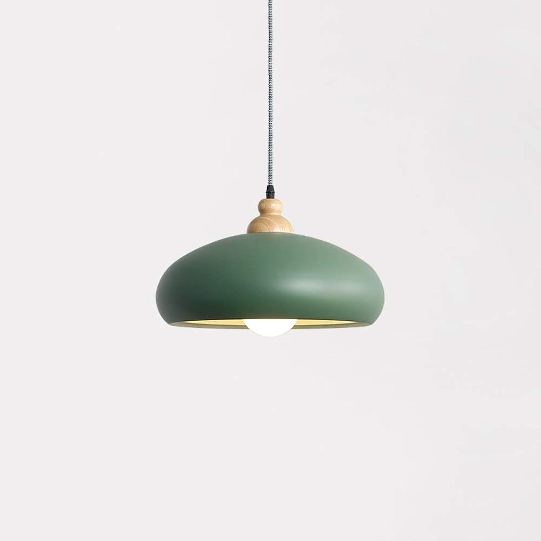 Tritow Moderne einfache Macaron pendelleuchte kreative Aluminium 1-licht hngen lampen Restaurant Dekoration deckenleuchter für Wohnzimmer Restaurant Schlafzimmer leuchte e27 (Farbe   Grün)