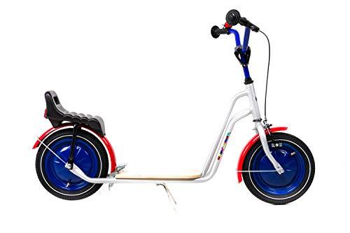 12,5 Zoll Tret Kinder Roller Scooter Easy Rider Luftbereifung Scheibenräder Silber
